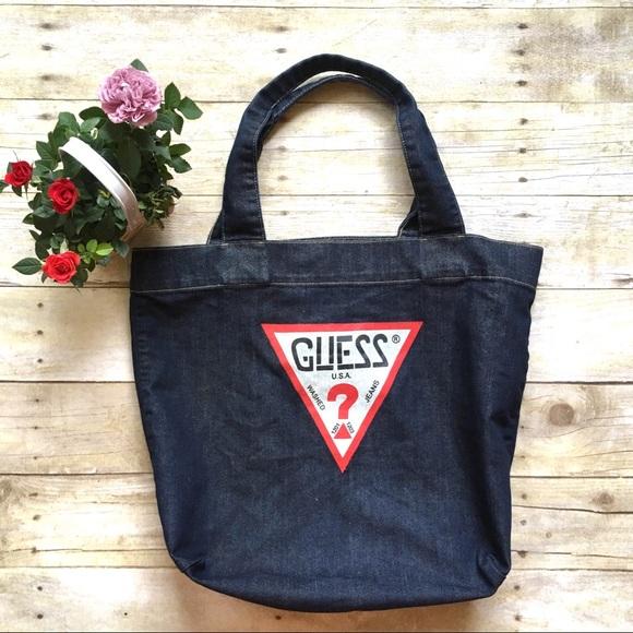 Guess Bags   Vintage Denim Tote   Poshmark 17ac30490b